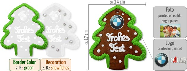Infographic Gingerbread Christmas Tree