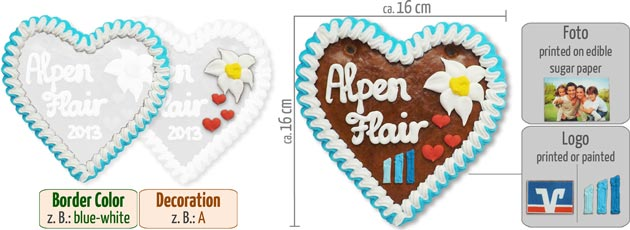 Gingerbread Heart with Logo
