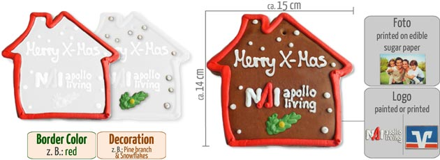 Infographic Gingerbread House flat