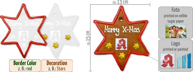 Infographic Star Gingerbread