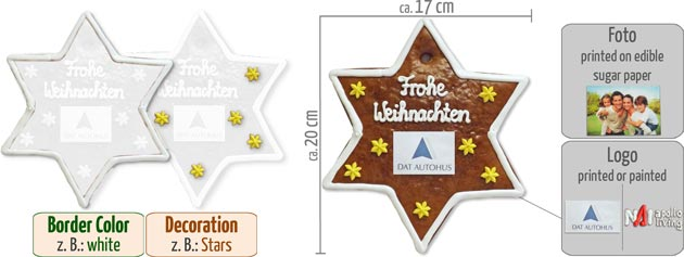 Infographic Gingerbread-Star