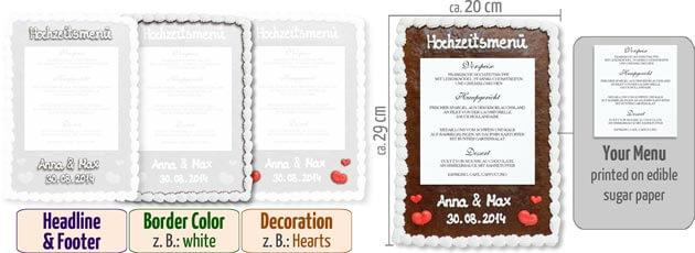 Infographic Menu Card classic