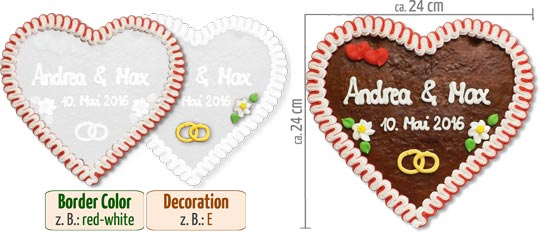 Infographic Gingerbread Heart 24cm