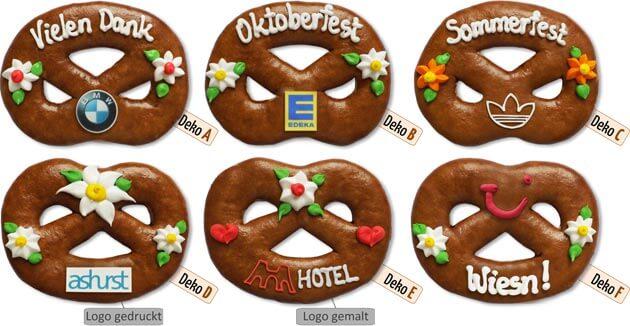 Lebkuchen-Brezel mit Logo