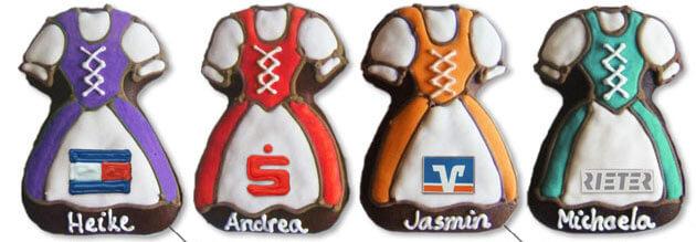 Lebkuchen-Dirndl Logo Beispielbilder