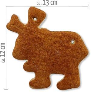 Lebkuchen Elch Rohling 12cm