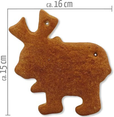 Lebkuchen Elch Rohling 15cm