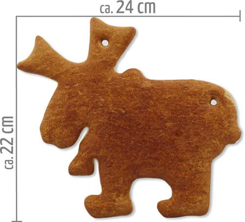Lebkuchen Elch Rohling 22cm