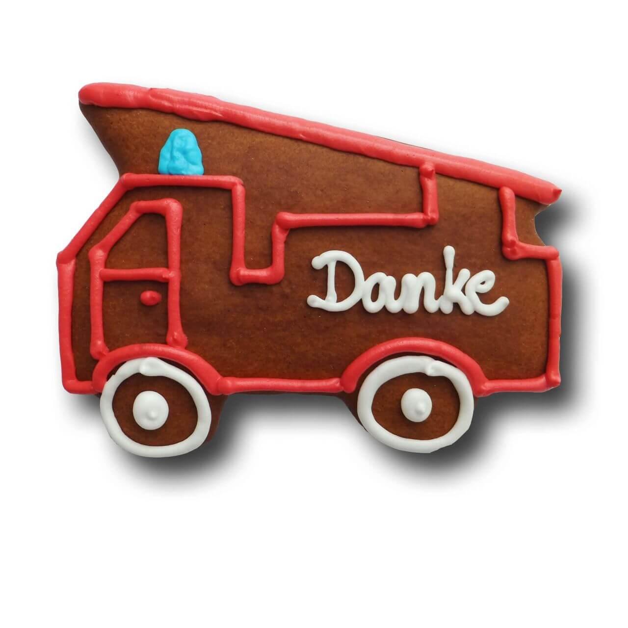 Lebkuchen Feuerwehrauto Individuell Mit Logo Online Bestellen Auf
