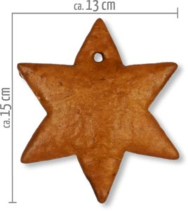 blank gingerbread star