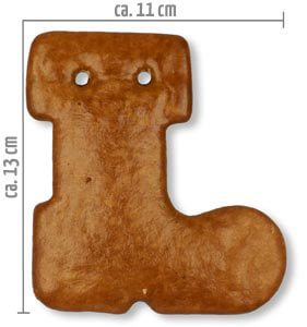 blank gingerbread boot
