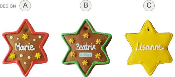 Placing Cards - Gingerbread Star