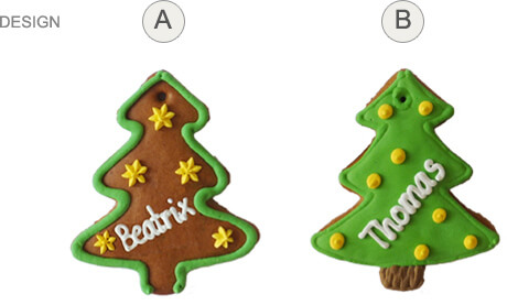 Placing Cards - Gingerbread Tree