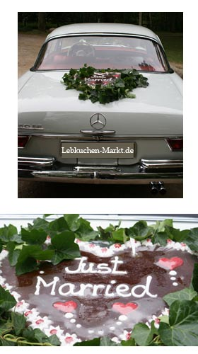 Gingerbread heart as a car decoration