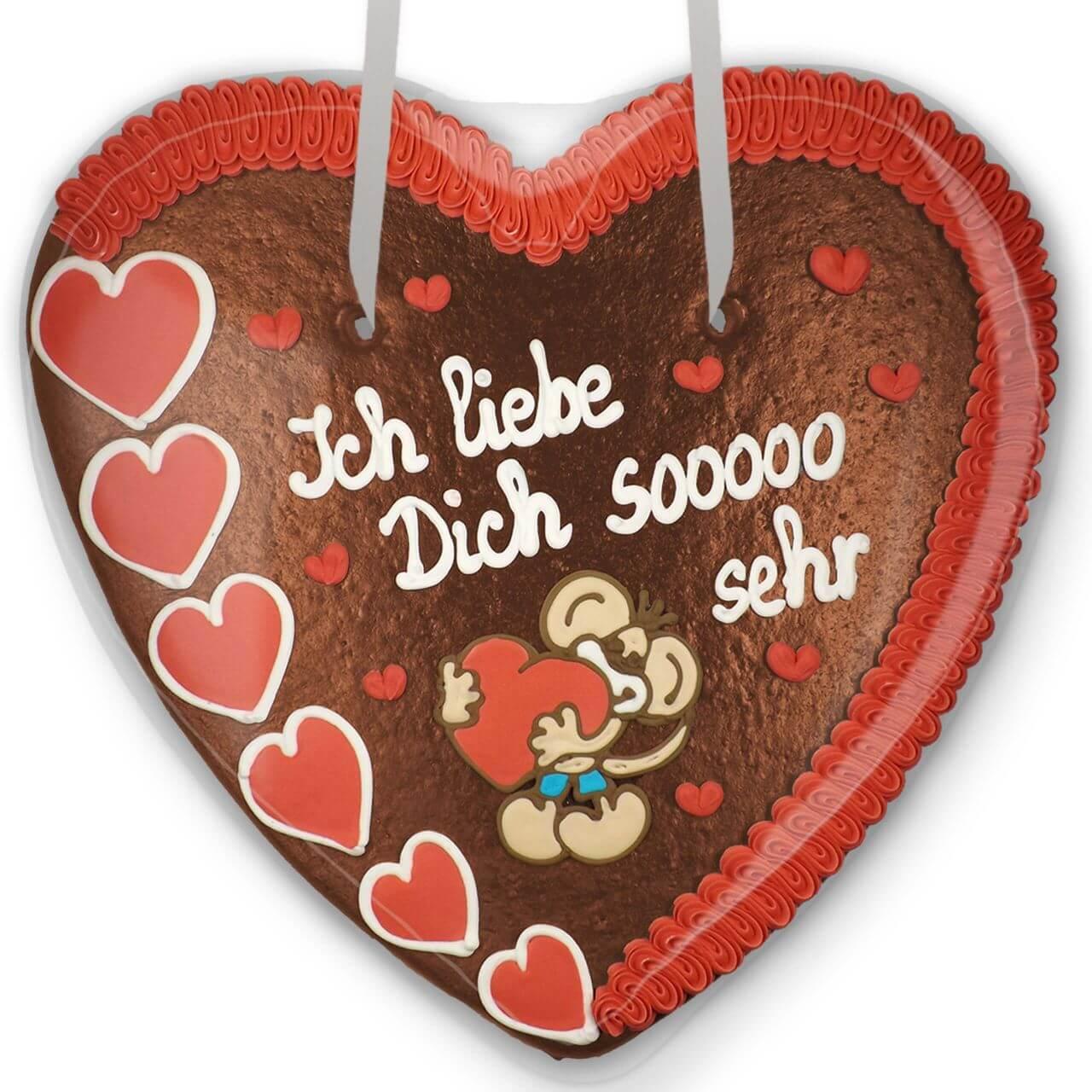 Xxl Gingerbread Heart Ich Liebe Dich So Sehr Lebkuchen Markt De