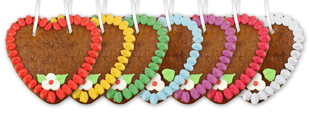 different border colors for our gingerbread heart blanks of size 15cm