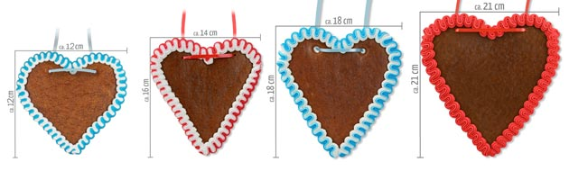 Gingerbread Heart Size