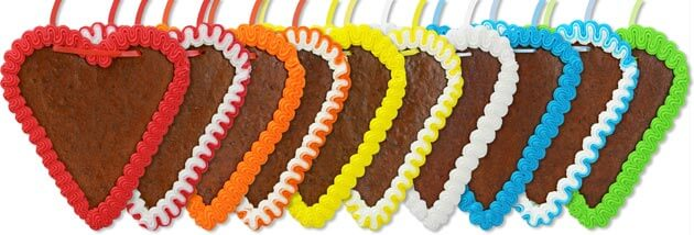 Farben Lebkuchenherz Rohlinge