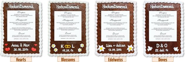 Decoration Gingerbread Menu Card
