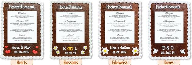 Decoration Gingerbread Menu Card
