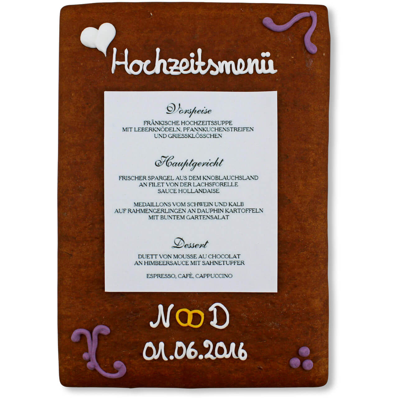 Gingerbread Menu Card Julian