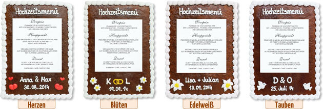 men karte hochzeit klassisch lebkuchen. Black Bedroom Furniture Sets. Home Design Ideas