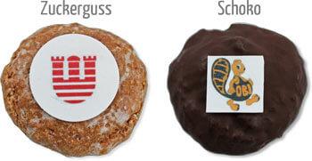 Mini-Lebkuchen mit Logo
