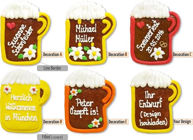 decoration beermug placecard