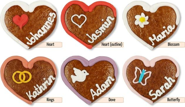 Decorations Gingerbread Heart Place Card