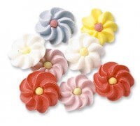 Sugar Decoration - Flowers Small, 200 pieces