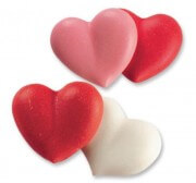 Sugar Decoration - Heart pair, 100 pieces
