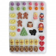 Gingerbread house sugar decoration set - 41 pieces