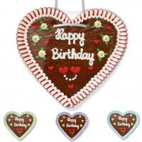 Happy Birthday - Gingerbread Heart XXL 50cm