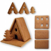 gingerbread witch house - handicraft kit - size L