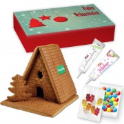 Gingerbread house complete set L in printed advertising box, logo optional