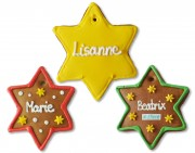 Gingerbread Star 12cm, Placement Card