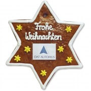 Gingerbread Star, customizable 20cm