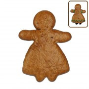 Gingerbread woman blank to decorate, 15cm