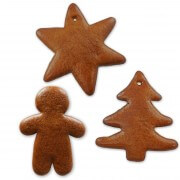 Gingerbread blanks set of 15 - 5x each star, fir, man