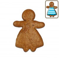 Gingerbread woman blank to label yourself, 10cm