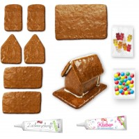 Mini gingerbread house to make yourself with accessories