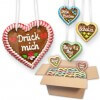 Gingerbread Heart Mixed Box - 12cm - Classic- various phrases