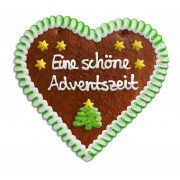 Christmas Gingerbread Heart individual, 24cm