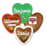 Christmas Gingerbread Heart individual, 10cm