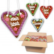Gingerbread Heart Mixed Bos - 14cm - various numbers of hearts