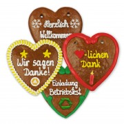 Christmas Gingerbread Heart individual, 14cm