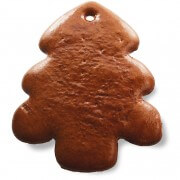 Gingerbread Christmas Tree round blank, 17cm