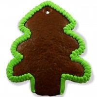 Gingerbread Christmas Tree blank with border