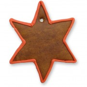 Gingerbread Christmas Star blank with border, red