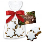 Cinnamon stars in bag, 50g with advertising card
